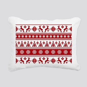 Christmas Holiday Nordic Rectangular Canvas Pillow