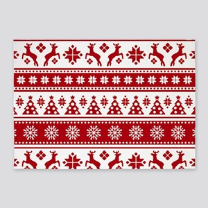 Christmas Holiday Nordic Pattern Co 5'x7'Area Rug