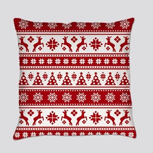 Christmas Holiday Nordic Pattern C Everyday Pillow