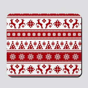 Christmas Holiday Nordic Pattern Cozy Mousepad