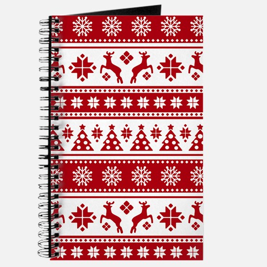 Christmas Holiday Nordic Pattern Cozy Journal