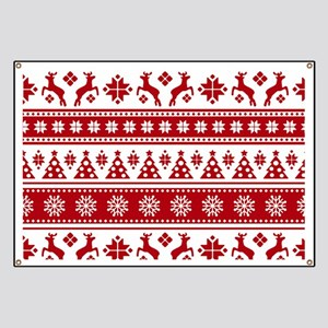Christmas Holiday Nordic Pattern Cozy Banner