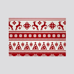 Christmas Holiday Nordic Pattern Cozy Magnets