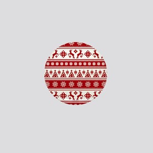 Christmas Holiday Nordic Pattern Cozy Mini Button