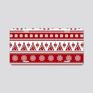 Christmas Holiday Nordic Pa Aluminum License Plate