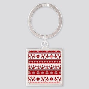 Christmas Holiday Nordic Pattern Cozy Keychains