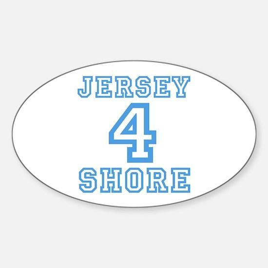 JERSEY 4 SHORE - LITE BLUE Sticker (Oval)