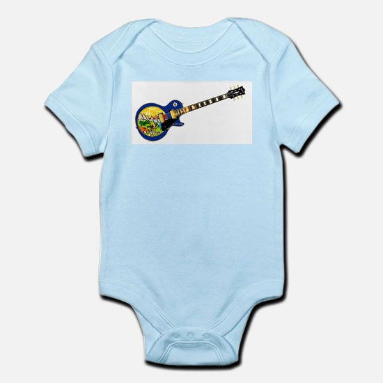 Montana State Flag Guitar Body Suit