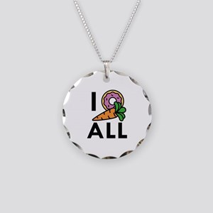 I Donut Carrot All Necklace Circle Charm