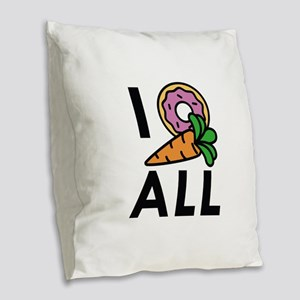 I Donut Carrot All Burlap Throw Pillow