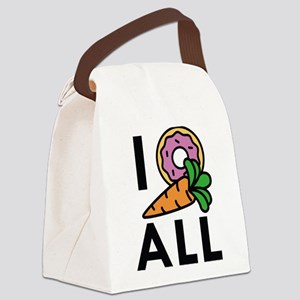 I Donut Carrot All Canvas Lunch Bag