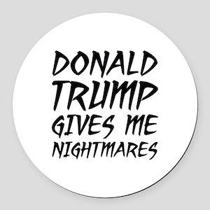 Donald Trump Nightmares Round Car Magnet