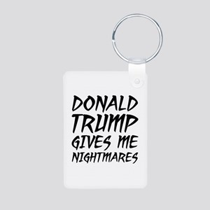 Donald Trump Nightmares Aluminum Photo Keychain
