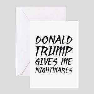 Donald Trump Nightmares Greeting Card