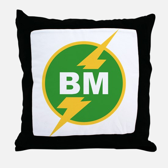 BM Best Man Throw Pillow