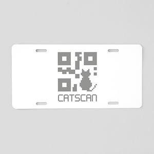 Catscan Aluminum License Plate