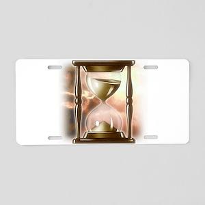 Hourglass Aluminum License Plate