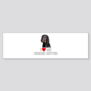 I love My Gordon Setter Bumper Sticker