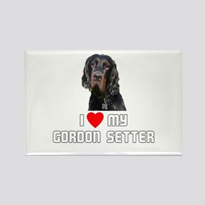 I love My Gordon Setter Rectangle Magnet