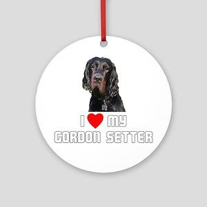I love My Gordon Setter Ornament (Round)