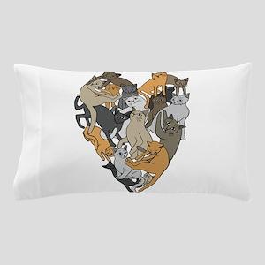 Cat Shaped Heart Pillow Case