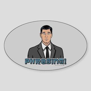 Archer Phrasing Sticker (Oval)