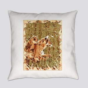 Lioness With Cub Everyday Pillow