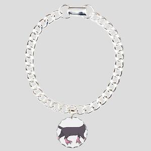Cat Roller Skating Charm Bracelet, One Charm