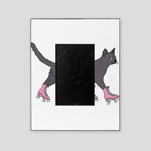 Cat Roller Skating Picture Frame