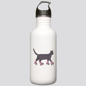 Cat Roller Skating Stainless Water Bottle 1.0L