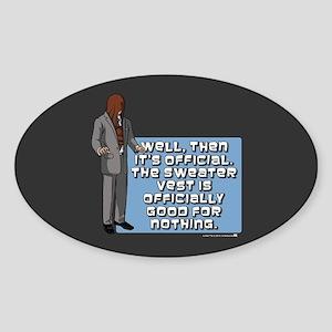 Archer Sweater Vest Sticker (Oval)