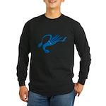 Blue Squid Long Sleeve Dark T-Shirt