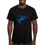 Blue Squid Men's Fitted T-Shirt (dark)