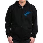 Blue Squid Zip Hoodie (dark)