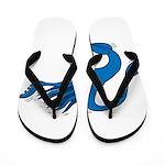 Blue Squid Flip Flops