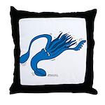Blue Squid Throw Pillow