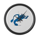 Blue Squid Large Wall Clock