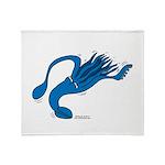 Blue Squid Throw Blanket