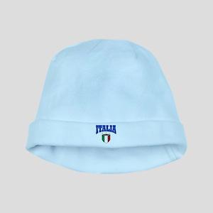 Italia azzurris star baby hat