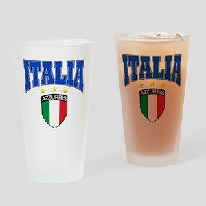 Italia azzurris star Drinking Glass