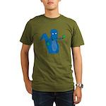 T-Rex Ping Pong Organic Men's T-Shirt (dark)