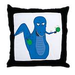 T-Rex Ping Pong Throw Pillow