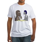T-Rex Dining Fitted T-Shirt