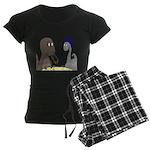 T-Rex Dining Women's Dark Pajamas