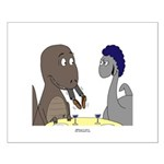 T-Rex Dining Small Poster