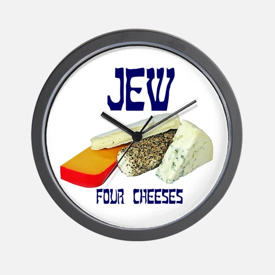 jew four cheeses Wall Clock