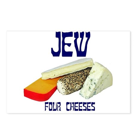 jew four cheeses Postcards (Package of 8)
