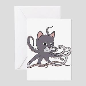 Cat Octopus Greeting Cards
