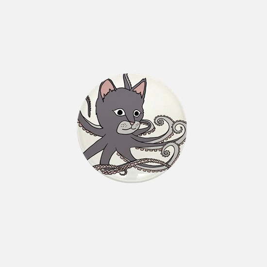 Cat Octopus Mini Button (10 pack)