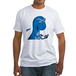 T-Rex Texting Fitted T-Shirt